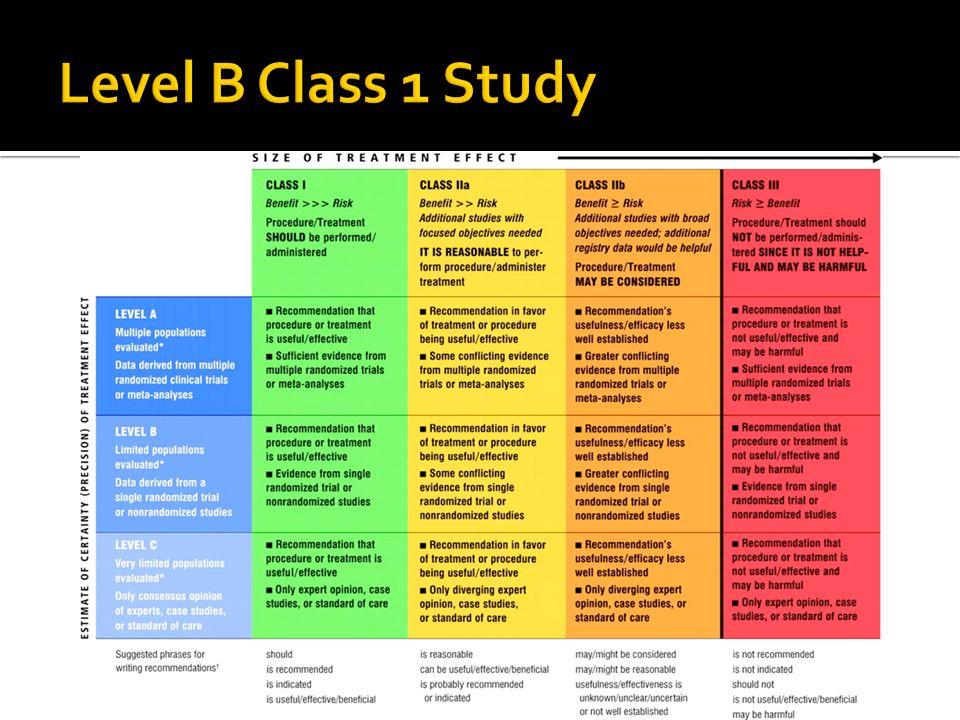 Level B Class 1 Study
