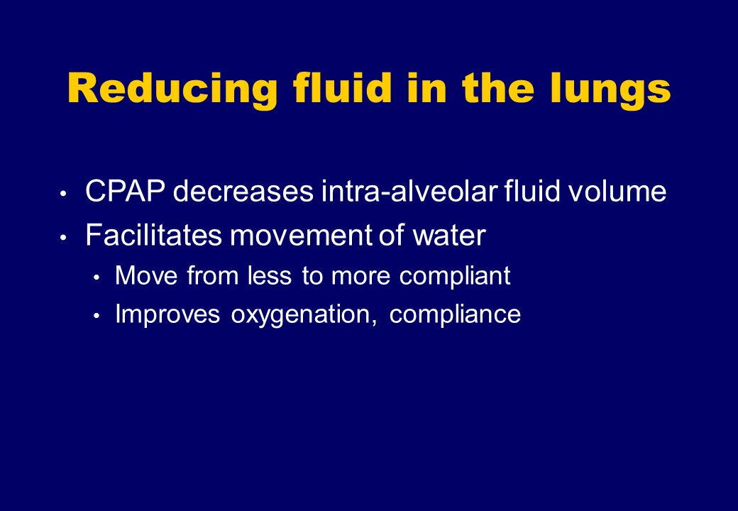 Reducing fluid in the lungs