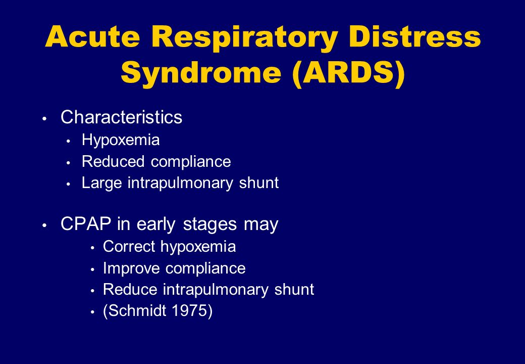 Acute Respiratory Distress Syndrome (ARDS)
