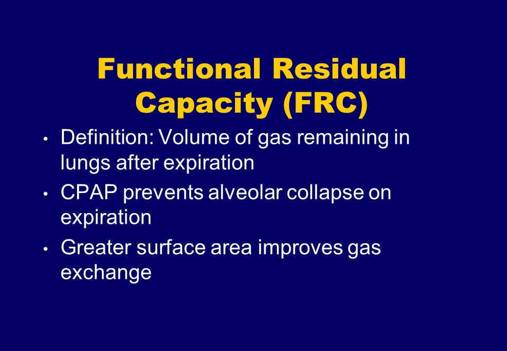 Functional Residual Capacity (FRC)