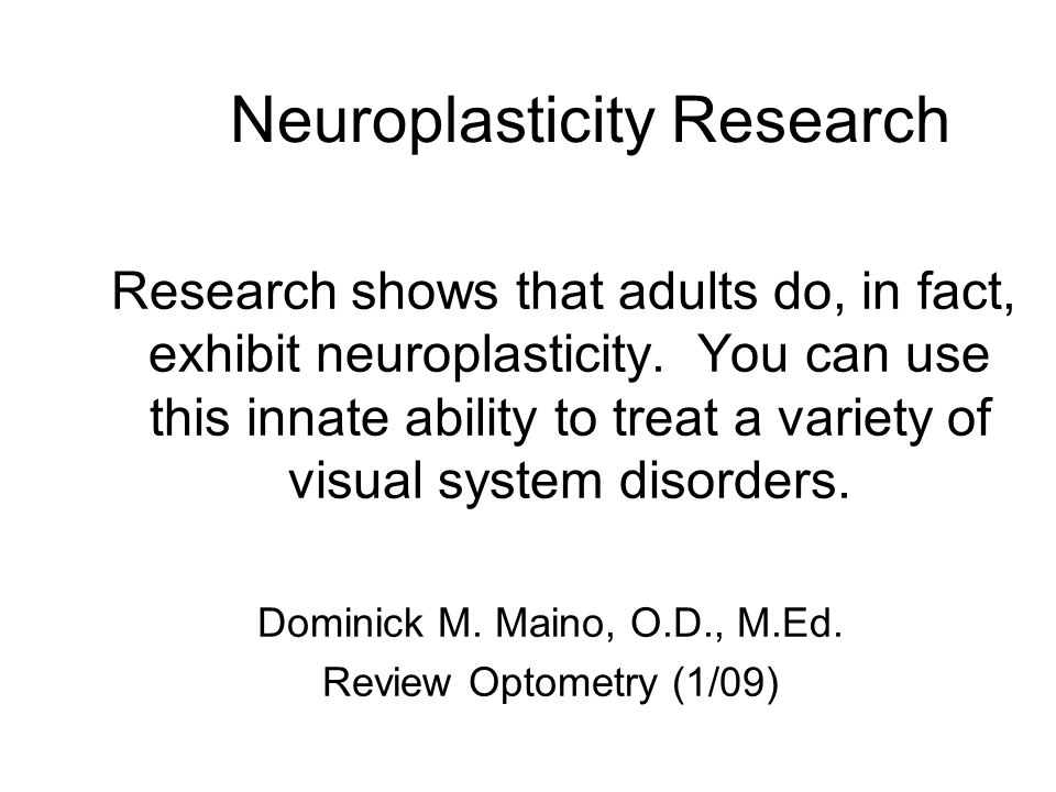 Neuroplasticity Research