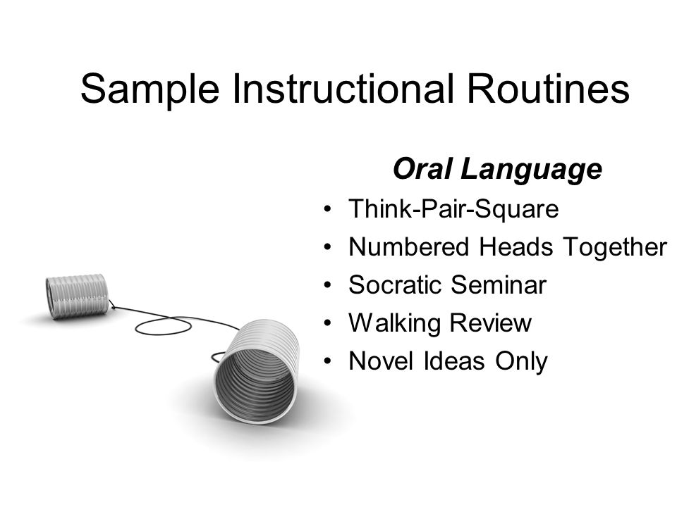 Sample Instructional Routines