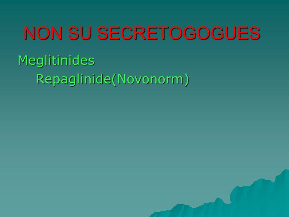 NON SU SECRETOGOGUES Meglitinides Repaglinide(Novonorm)