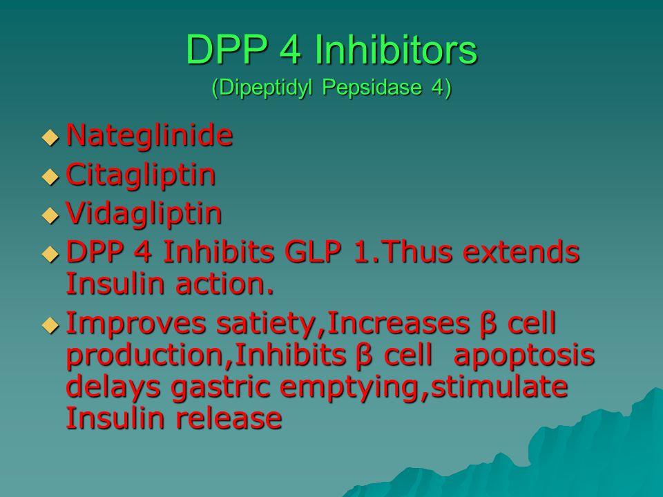 DPP 4 Inhibitors (Dipeptidyl Pepsidase 4)