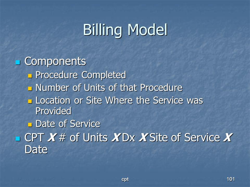 Billing Model Components