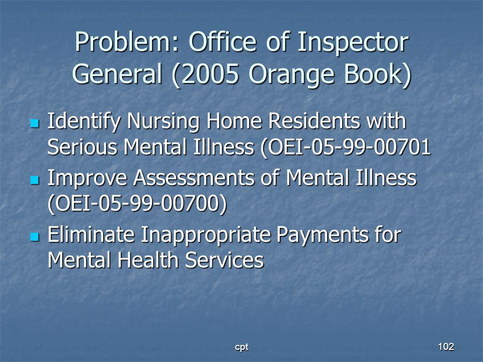 Problem: Office of Inspector General (2005 Orange Book)