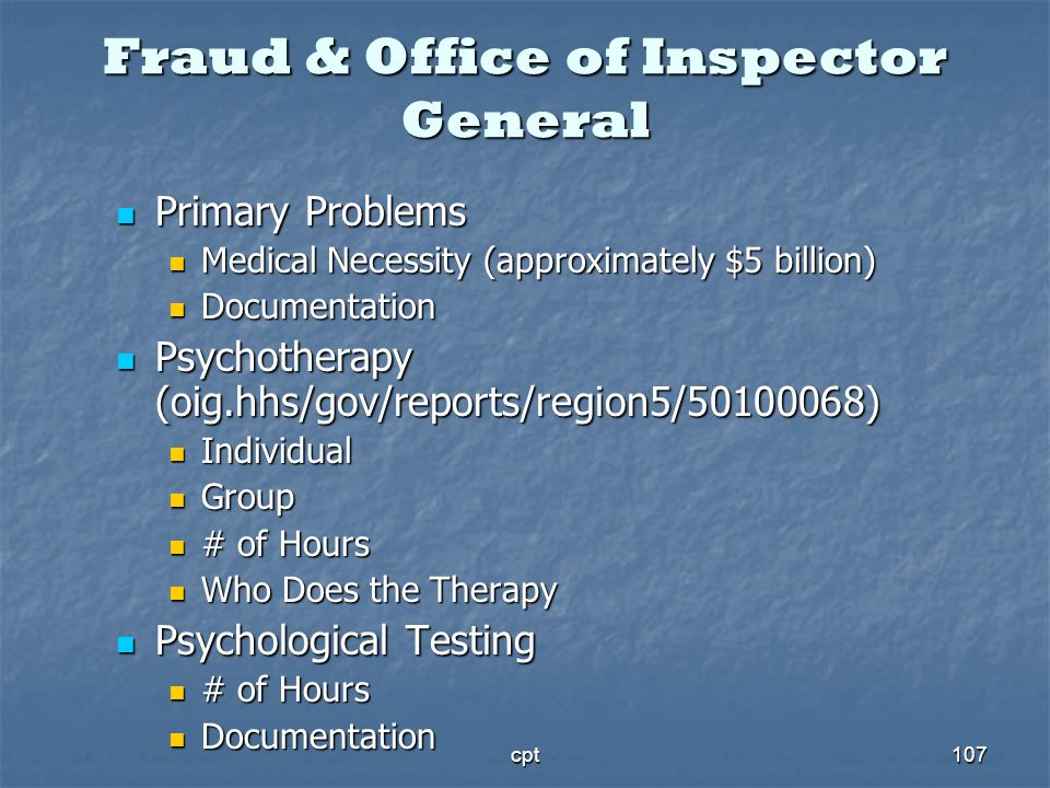 Fraud & Office of Inspector General