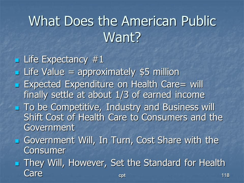 What Does the American Public Want
