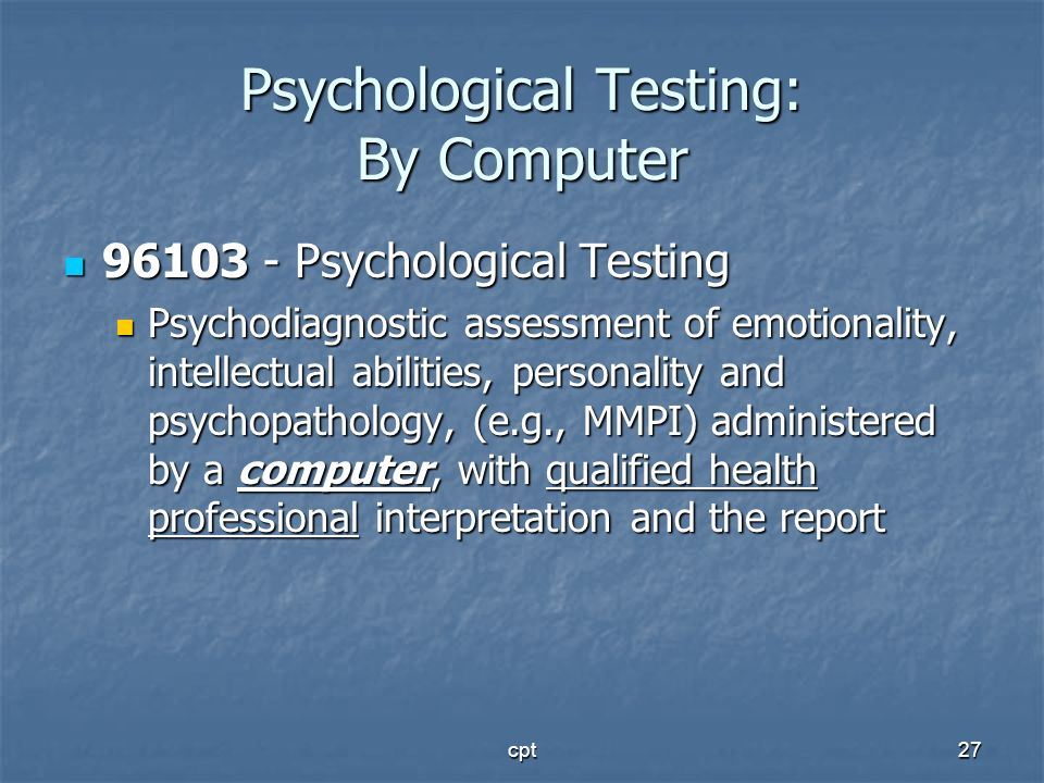Psychological Testing: By Computer