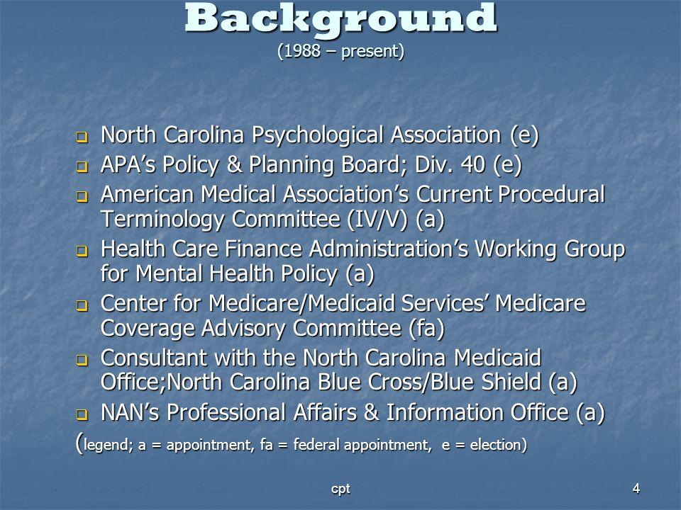 Background (1988 – present)