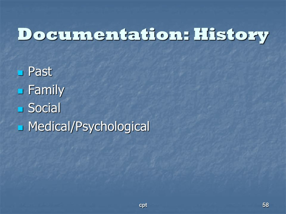 Documentation: History