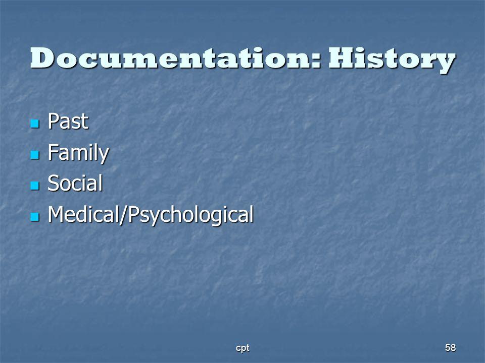 Documentation: History