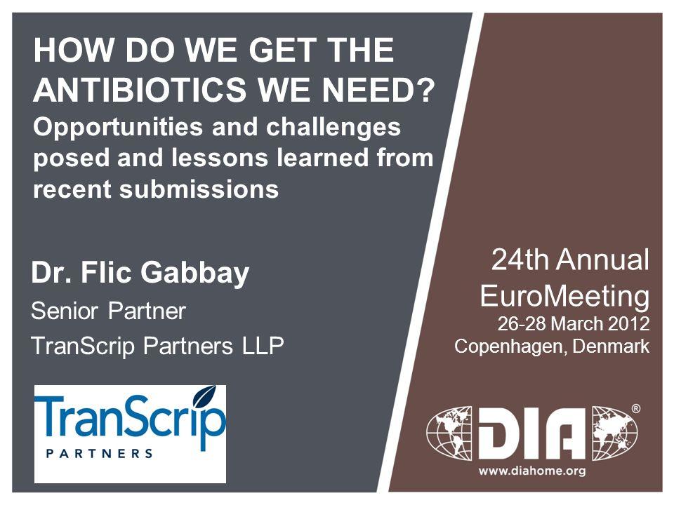 Dr. Flic Gabbay Senior Partner TranScrip Partners LLP