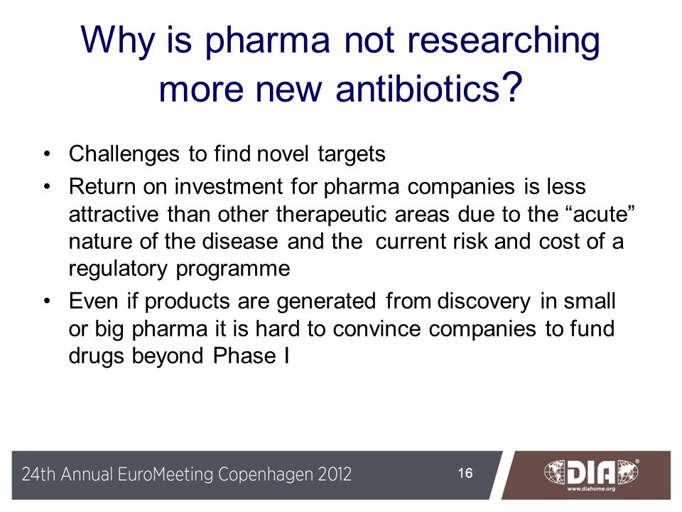 Why is pharma not researching more new antibiotics