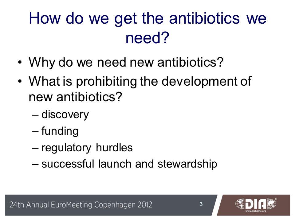 How do we get the antibiotics we need
