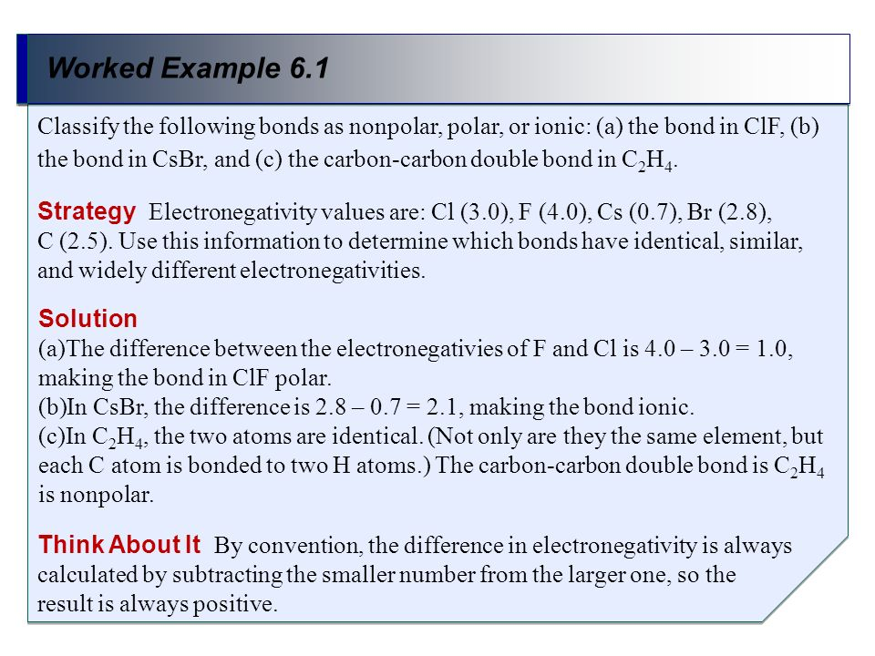 Worked Example 6.1