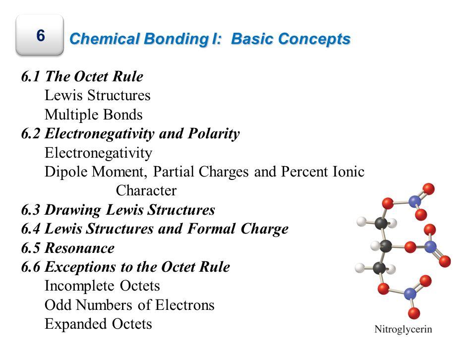 6 Chemical Bonding I: Basic Concepts 6.1 The Octet Rule