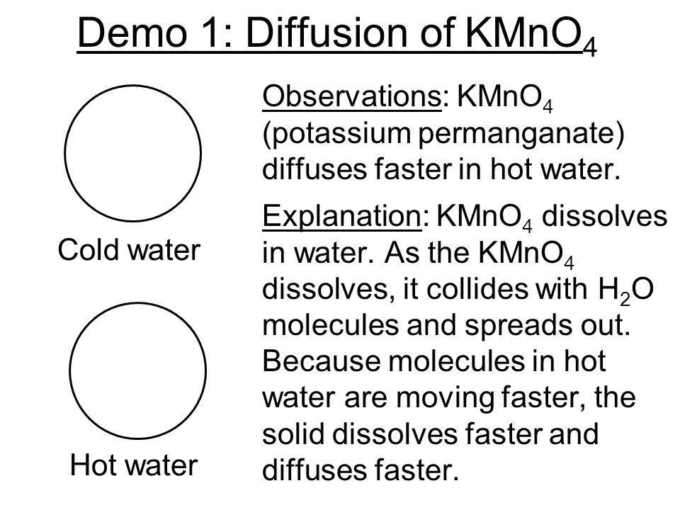 Demo 1: Diffusion of KMnO4