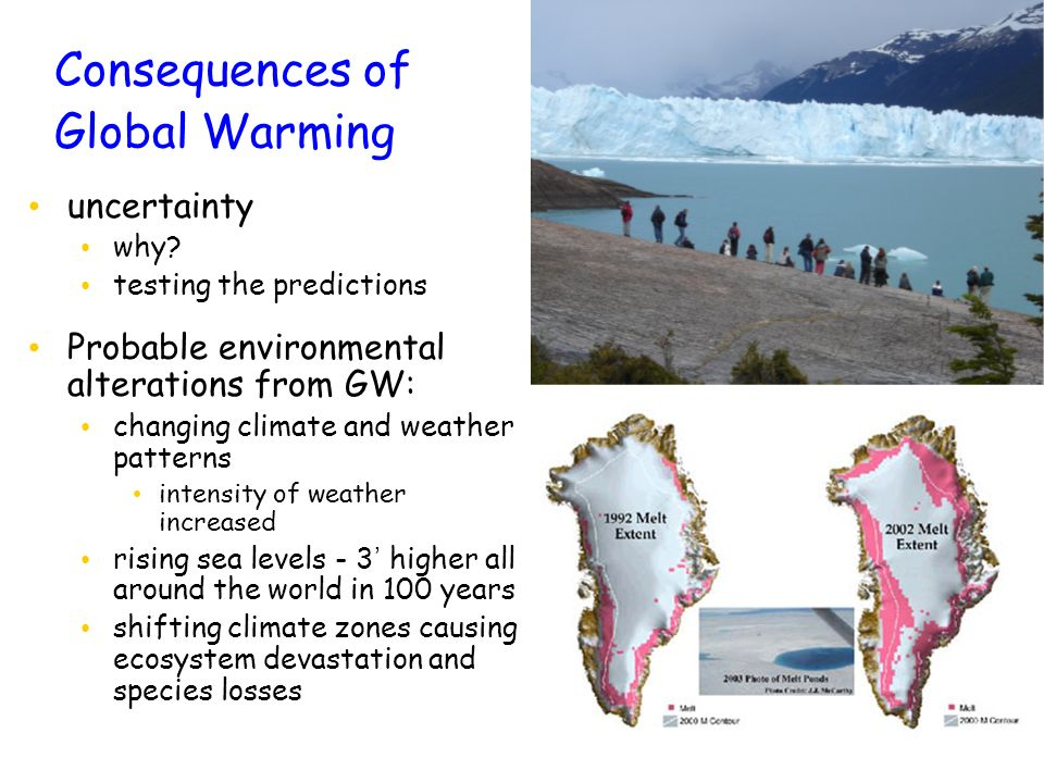 Consequences of Global Warming