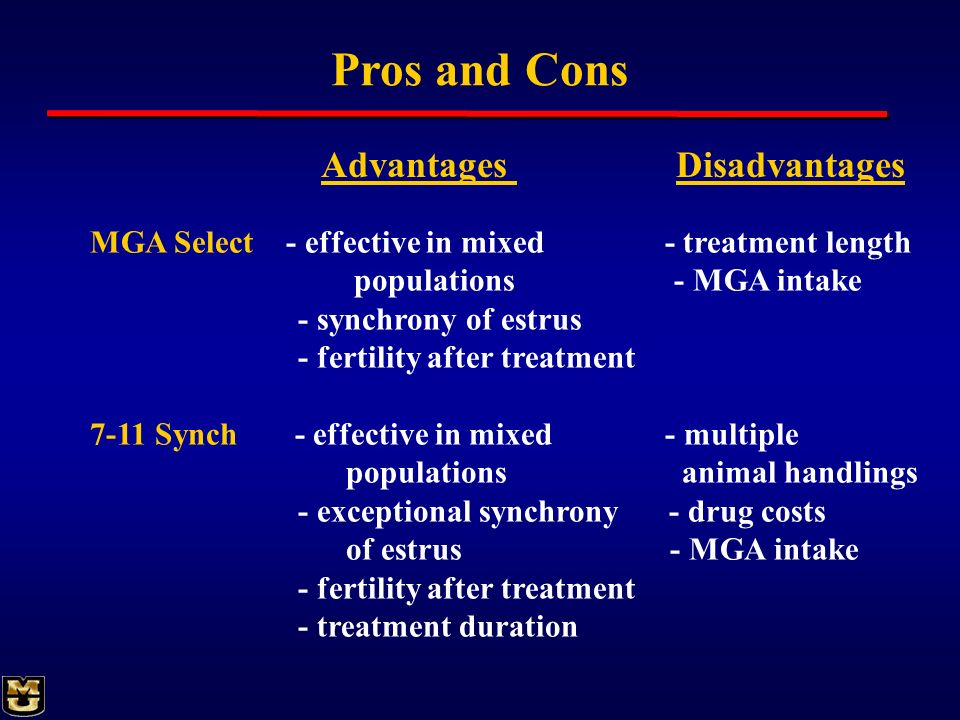 Pros and Cons Advantages Disadvantages