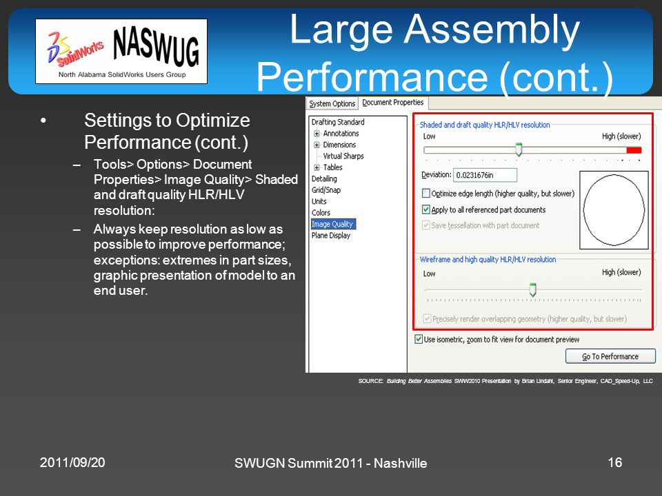 Large Assembly Performance (cont.)