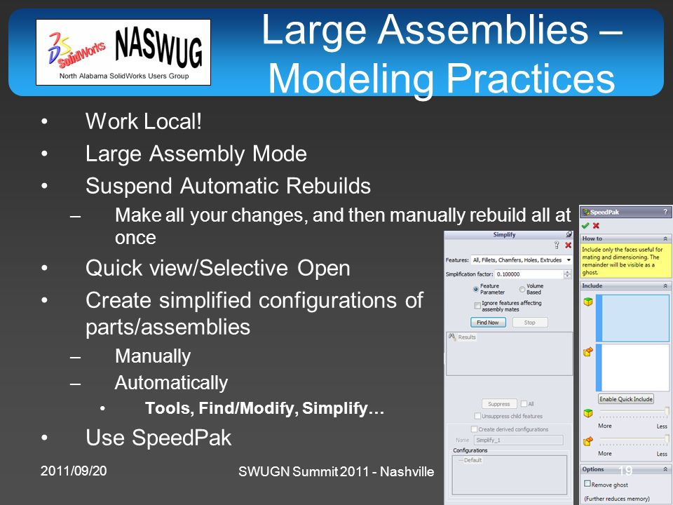 Large Assemblies – Modeling Practices