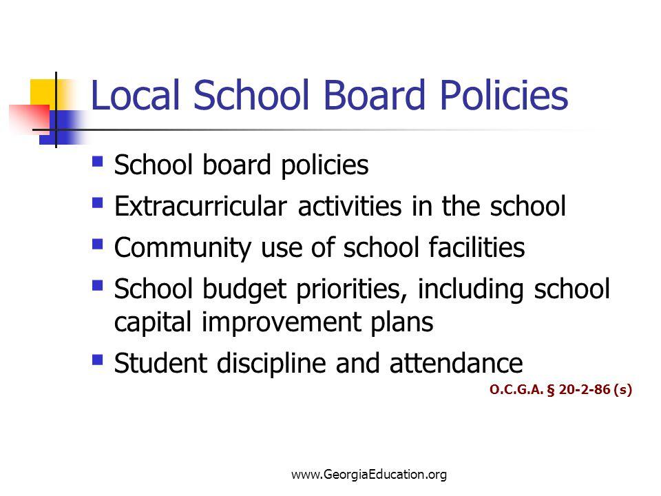 Local School Board Policies
