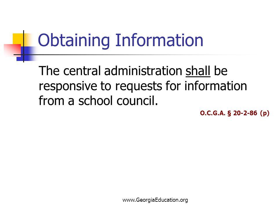 Obtaining Information