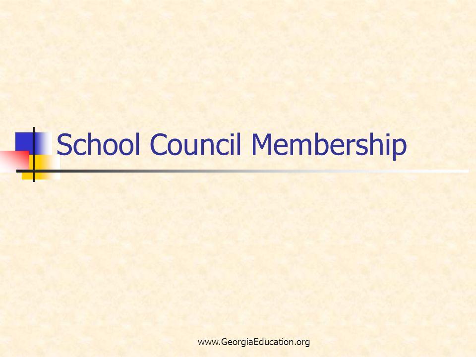 School Council Membership