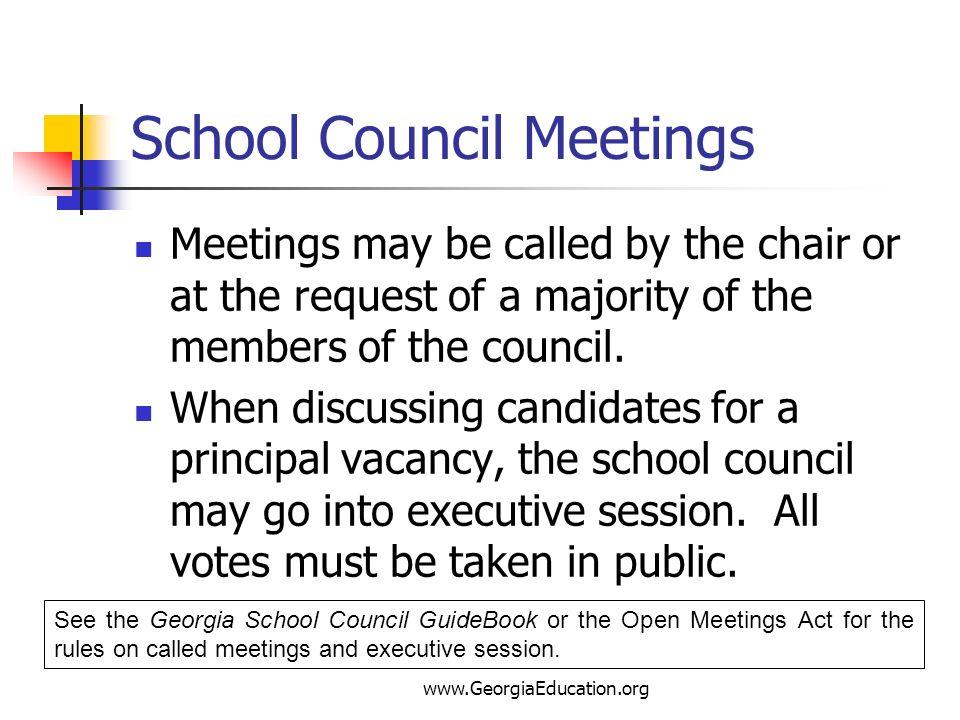 School Council Meetings