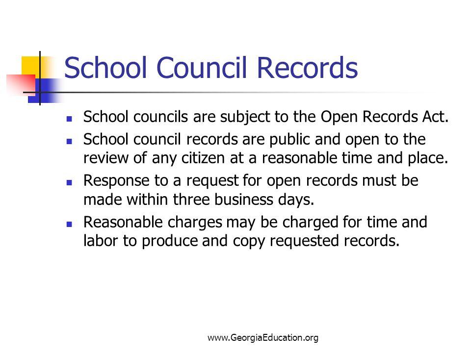 School Council Records