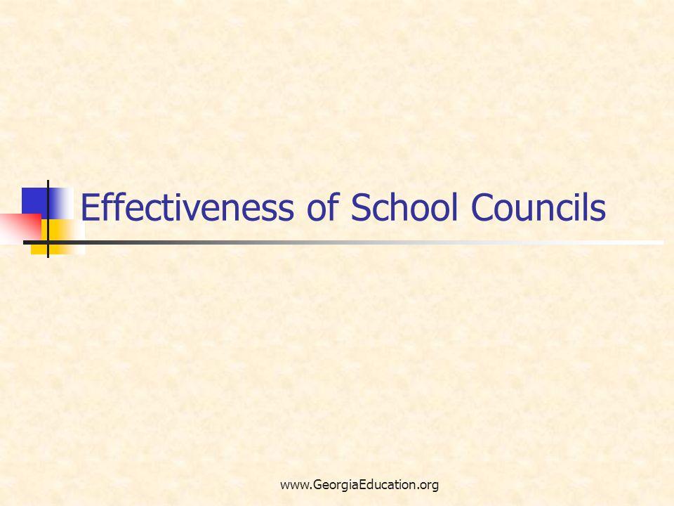 Effectiveness of School Councils