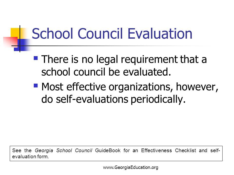 School Council Evaluation