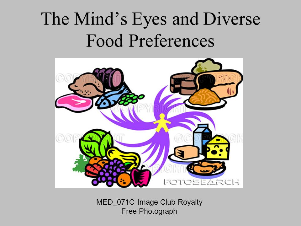 The Mind's Eyes and Diverse Food Preferences