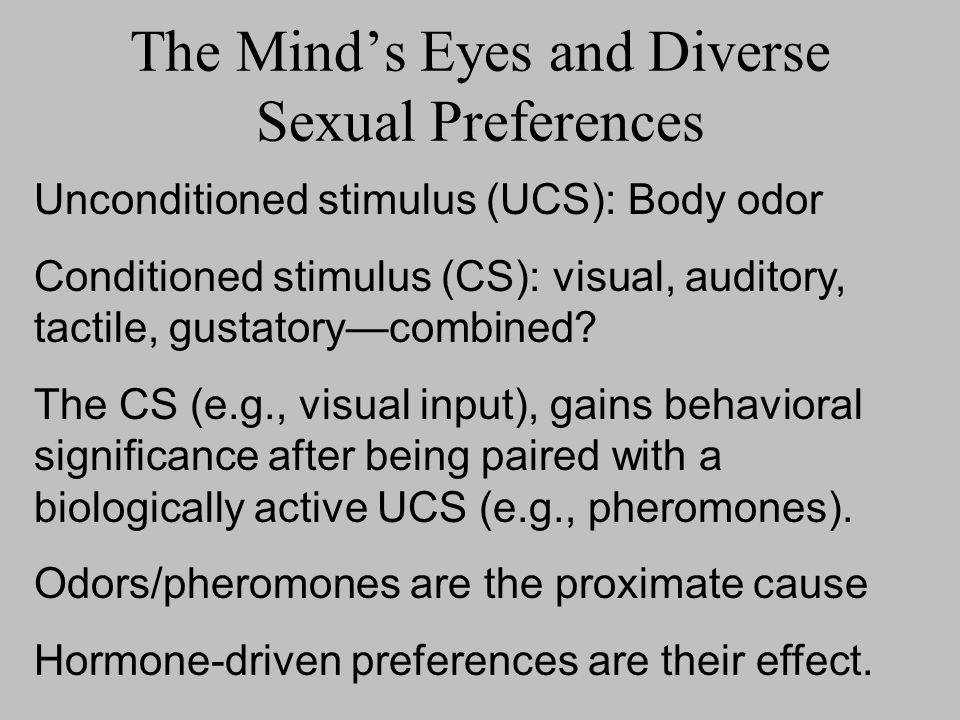 The Mind's Eyes and Diverse Sexual Preferences