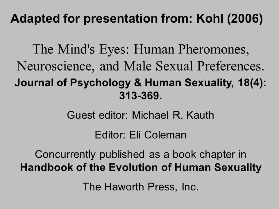 Adapted for presentation from: Kohl (2006)
