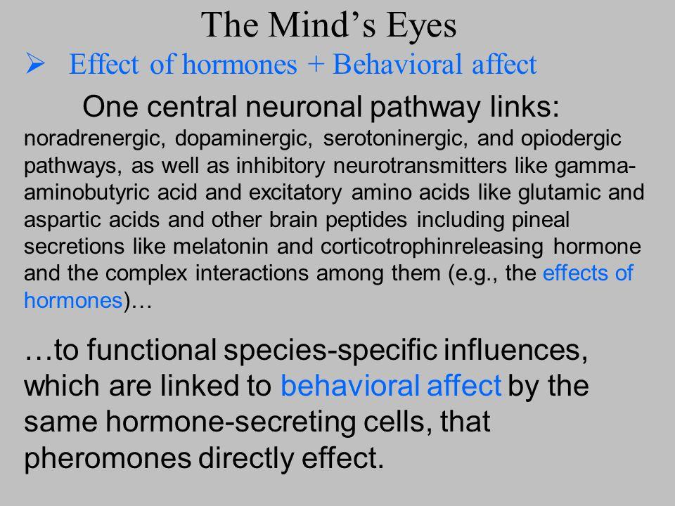 The Mind's Eyes Effect of hormones + Behavioral affect