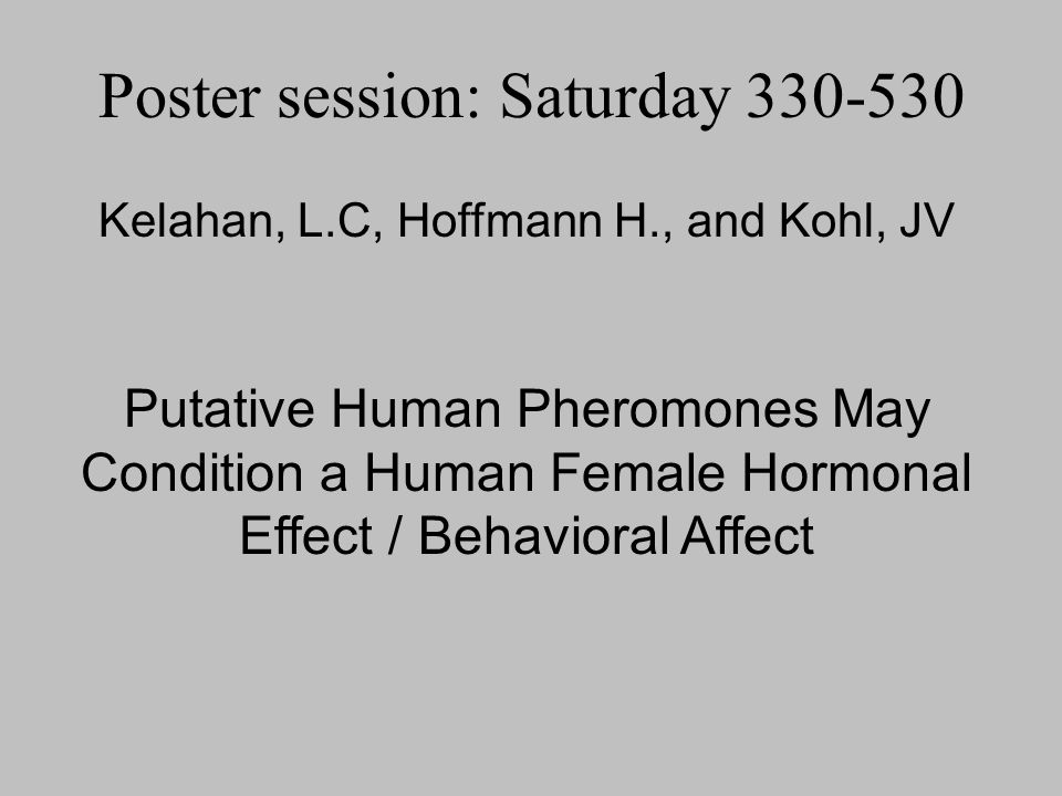 Poster session: Saturday