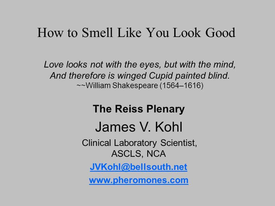 How to Smell Like You Look Good