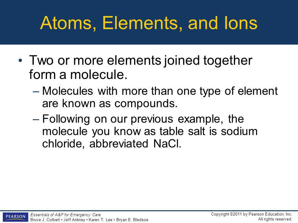 Atoms, Elements, and Ions
