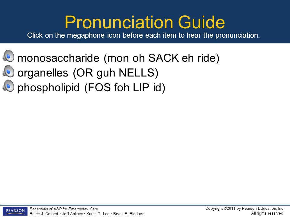 Pronunciation Guide monosaccharide (mon oh SACK eh ride)