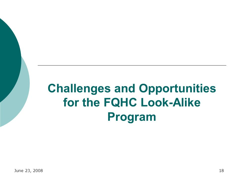 Challenges and Opportunities for the FQHC Look-Alike Program
