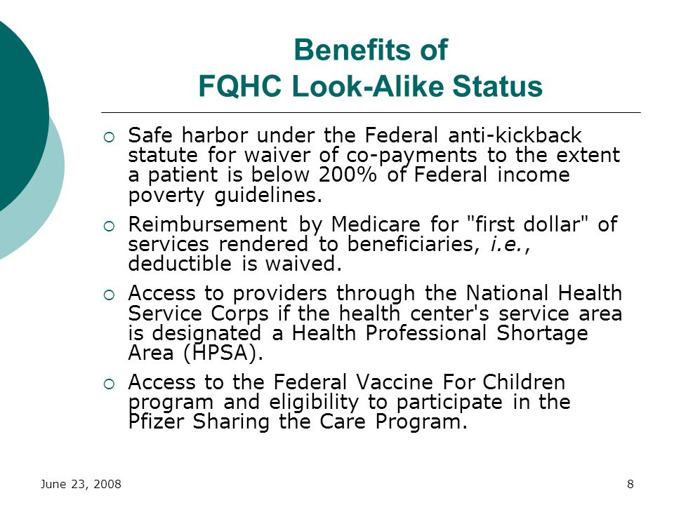 Benefits of FQHC Look-Alike Status