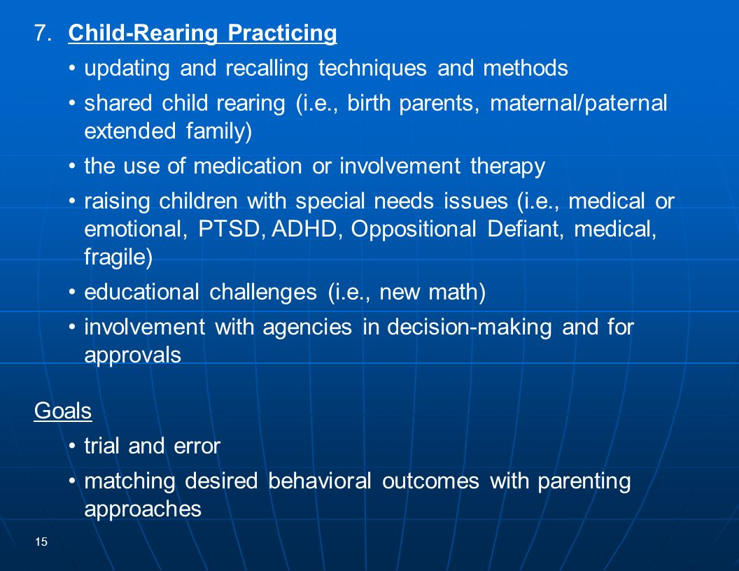 7. Child-Rearing Practicing