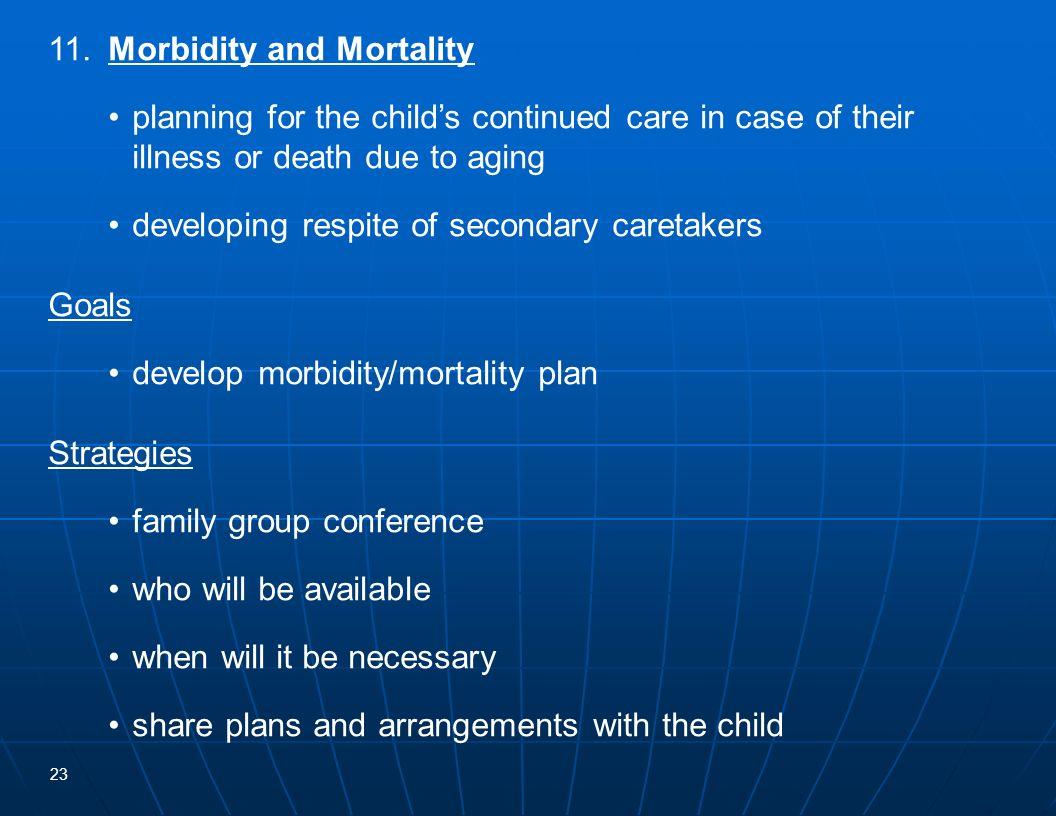 11. Morbidity and Mortality