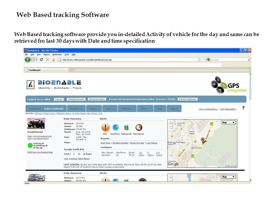 Web Based tracking Software
