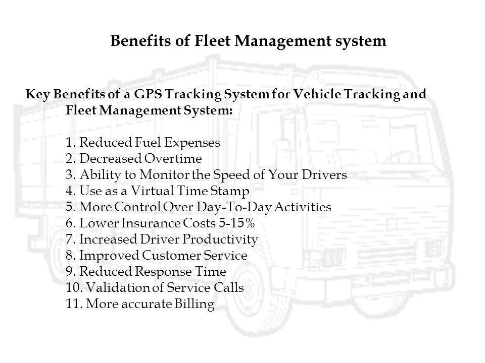 Benefits of Fleet Management system