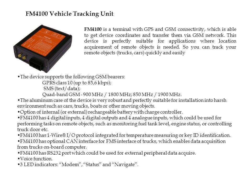 FM4100 Vehicle Tracking Unit