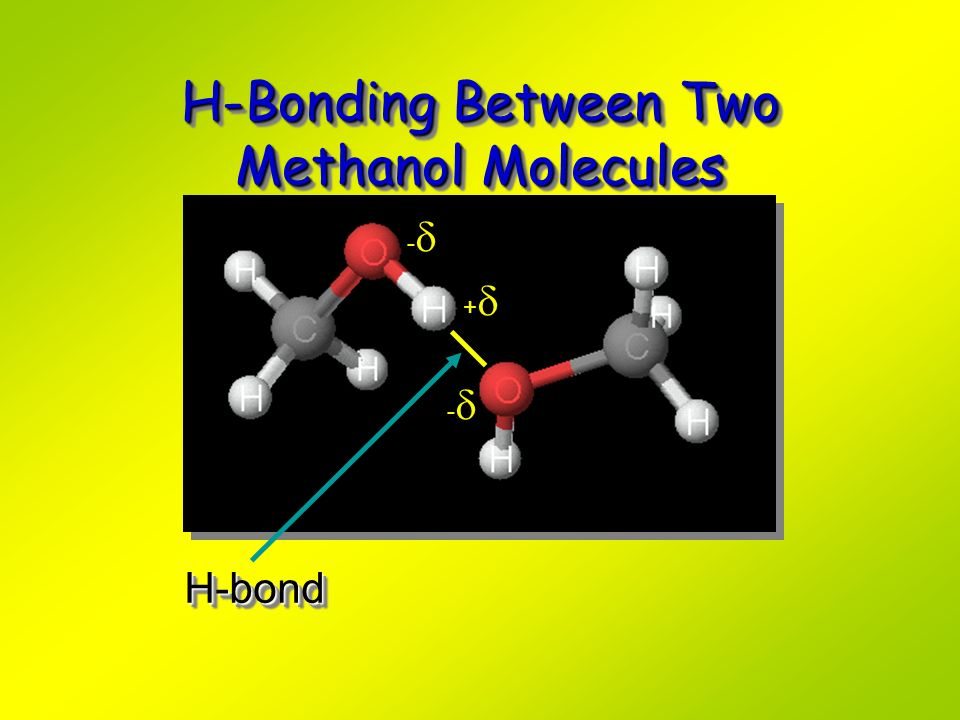 H-Bonding Between Two Methanol Molecules