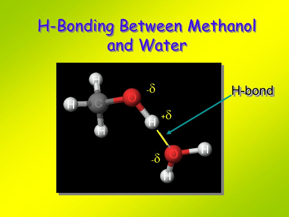 H-Bonding Between Methanol and Water